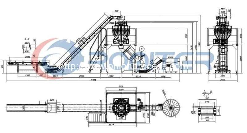 Automatic-onion-net-bag-mesh-bag-packing-line-by-weight