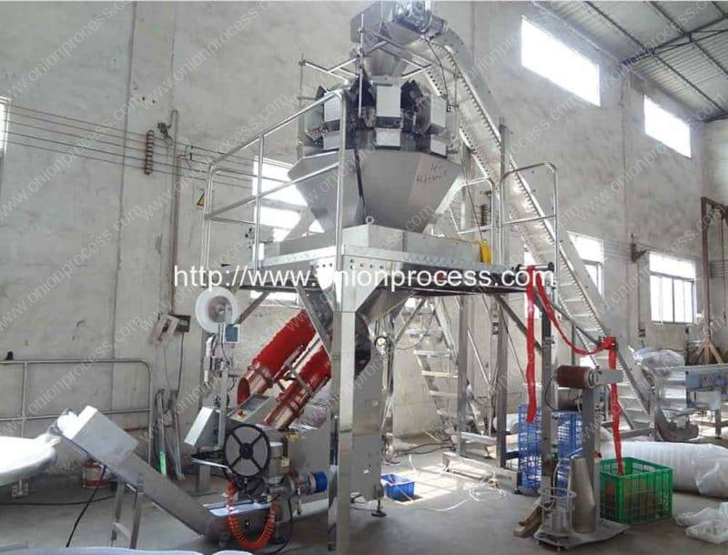 Full Automatic Onion Mesh Bag Packing Machine for Supermarket