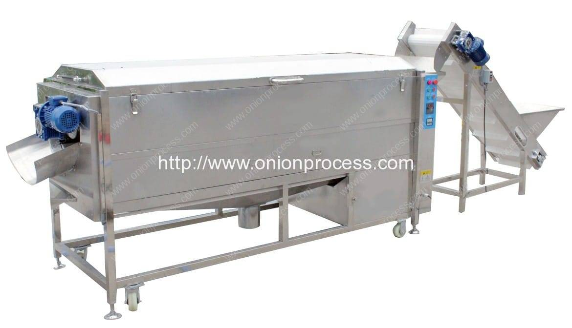 Screw Feeding Onion Water Washing Machine