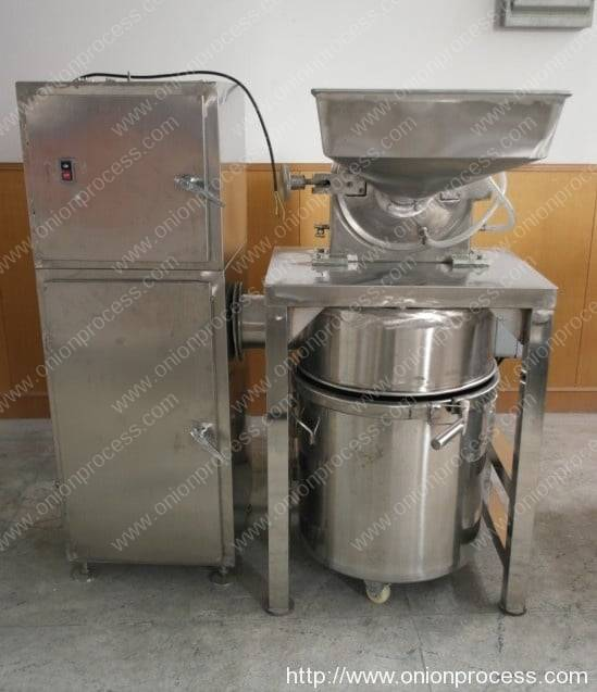 Stainless Steel Onion Powder Grinder Machine with Water Cooling & Dust Collector