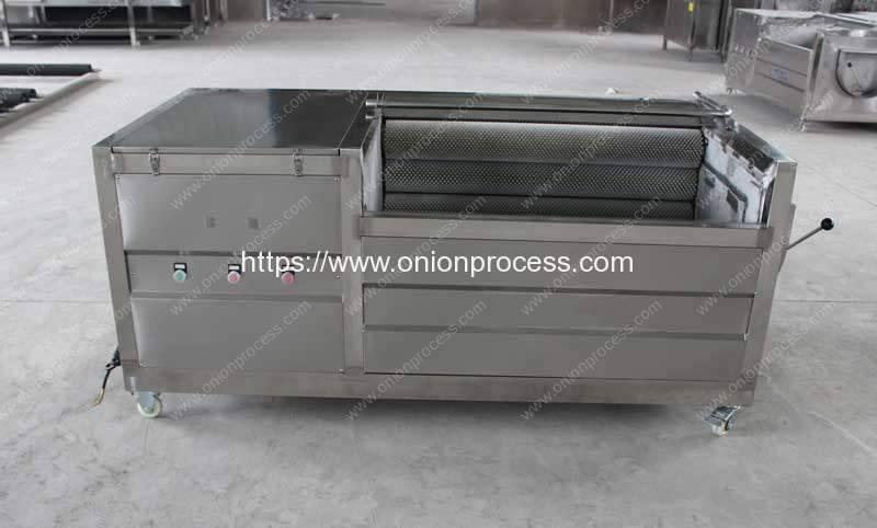 Automatic-Brusher-Type-Onion-Washing-Peeling-Machine