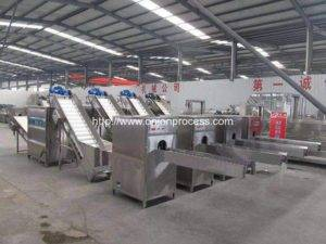 Automatic-500kgh-Pneumatic-Type-Onion-Root-Cutting-and-Peeling-Line