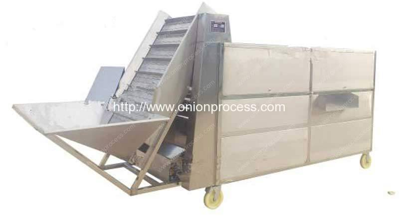 Automatic-Rolling-Tube-Type-Onion-Sorting-Grading-Machine