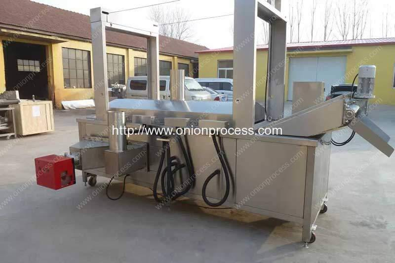 Natural Gas Heating Onion Ring Frying Machine