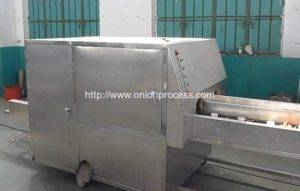 No Damage Onion Peeling and Root Cutting Machine for Spain Customer