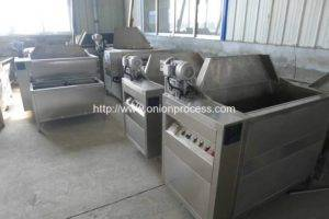 Automatic-Discharging-Onion-Frying-Machine