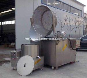 Automatic-Discharging-Onion-Ring-Frying-Machine
