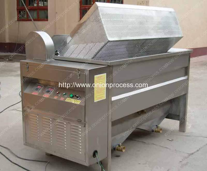 Electric Heating Automatic Discharge Onion Frying Machine