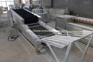 Onion-Brush-Dry-Cleaning-Machine-with-Selecting-Conveyor-for-Oman-Customer
