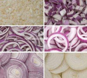 Different Onion Cutted Type Introduction