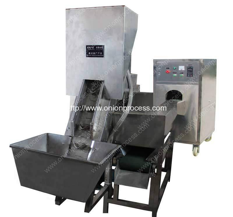 Automatic Onion Peeling and Root Cutting Machine for South Africa Customer