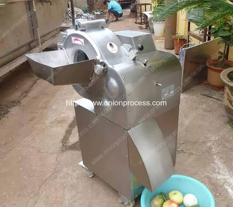 Automatic Onion Cube Shape Dicer Cutting Machine for India Customer