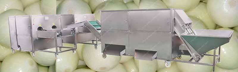 2020-Automatic-Onion-Peeling-and-Root-Cutting-Line