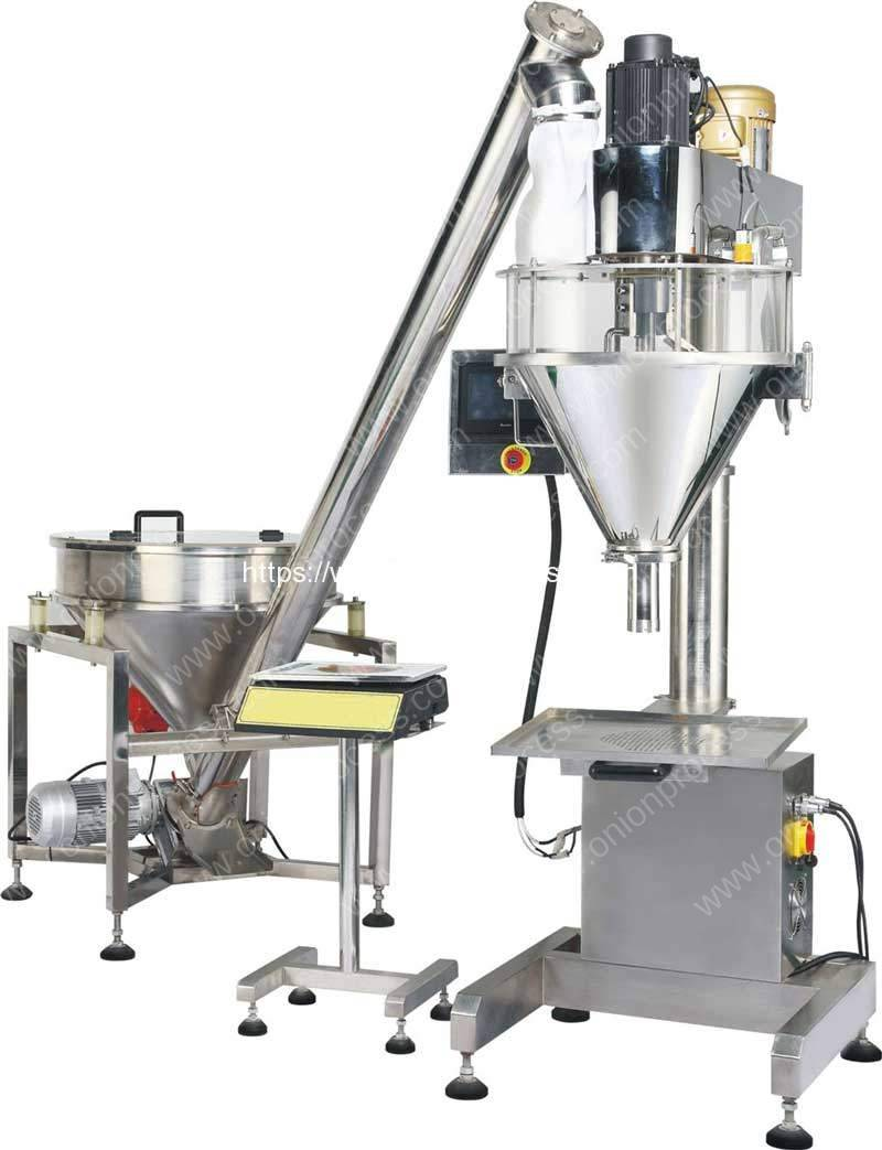 Auger-Filler-Type-Onion-Powder-Filling-Machine-with-Screw-Feeding-Hopper