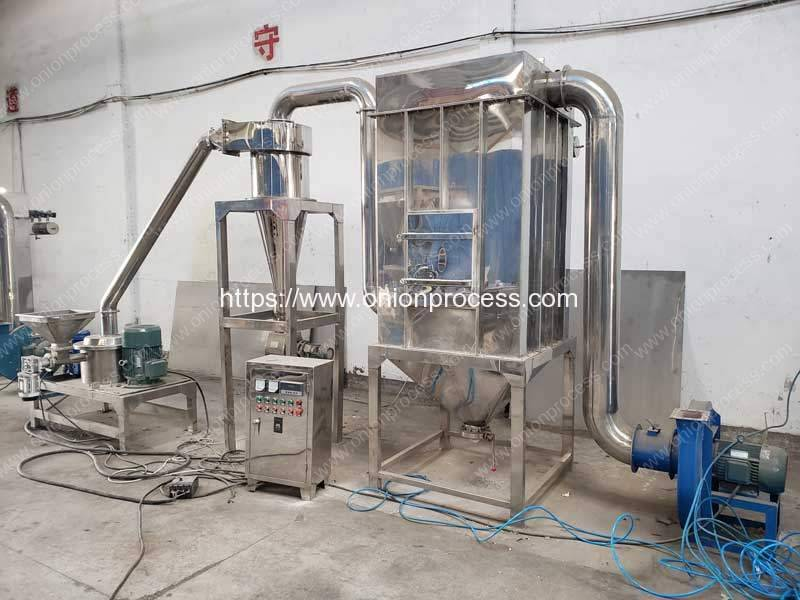 Full-Automatic-Onion-Powder-Crushing-Making-Machine-with-Dust-Collector