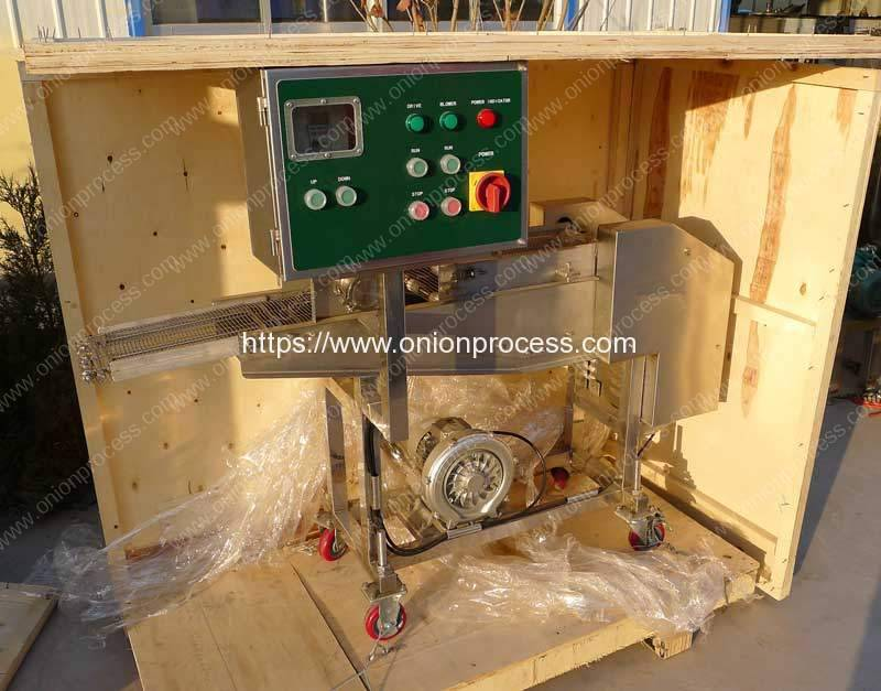 Automatic-Onion-Ring-Battering-Breading-Machine-Delivery-for-India-Customer