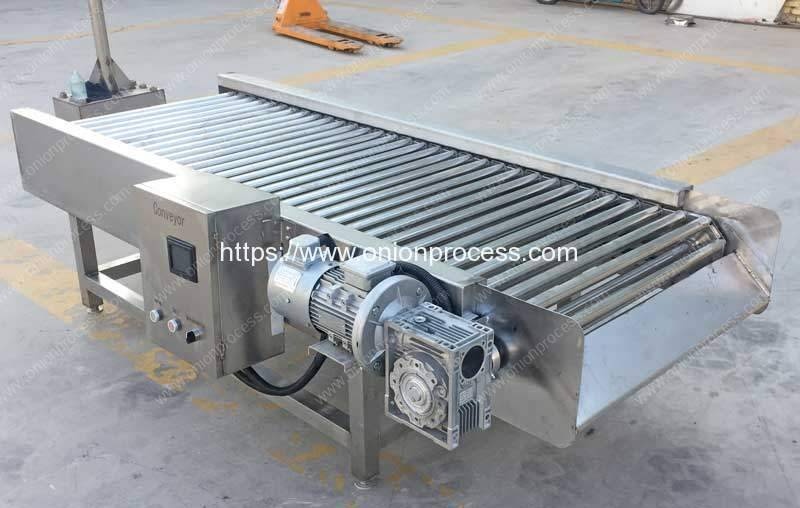 Rolling-Rod-Type-Onion-Selection-Conveyor