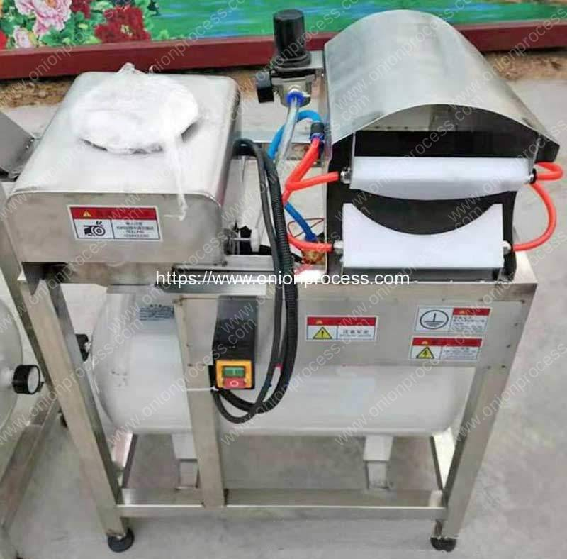 Pneumatic-Green-Onion-Spring-Peeling-Cleaning-Machine-with-Root-Cutting-Blade