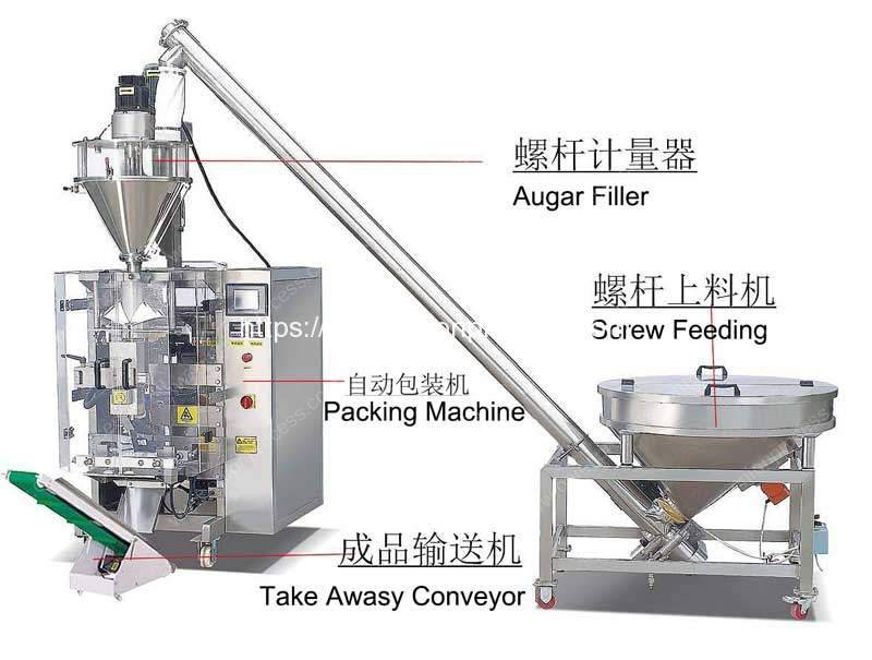 Full-Automatic-Onion-Flour-Scaling-Packing-Machine-with-Screw-Feeding-Hopper