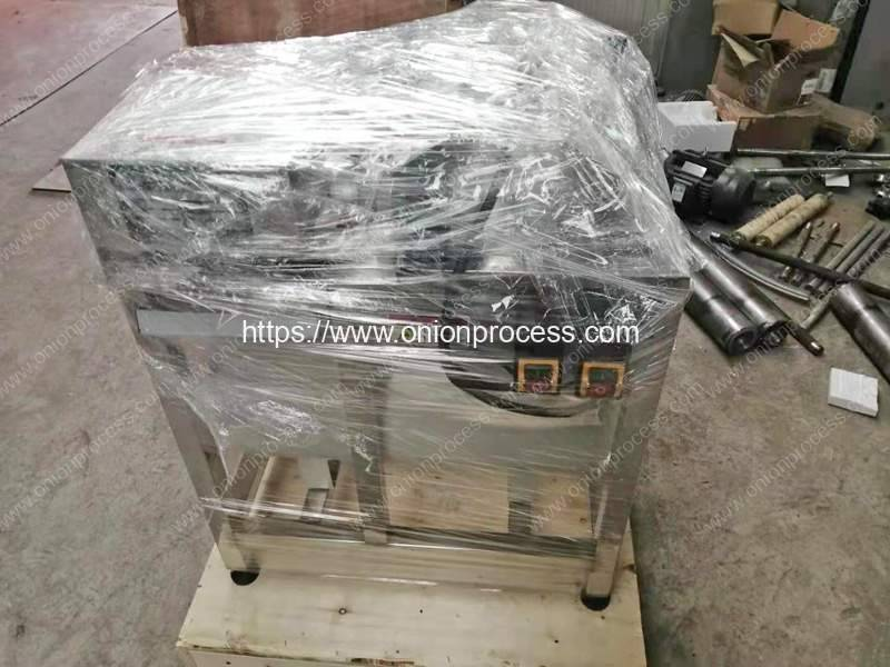 Green-Onion-Spring-Root-Cutting-and-Peeling-Machine-Package-for-France-Customer