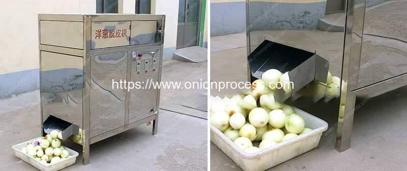 Pneumatic-Drum-Type-Onion-Peeling-Machine