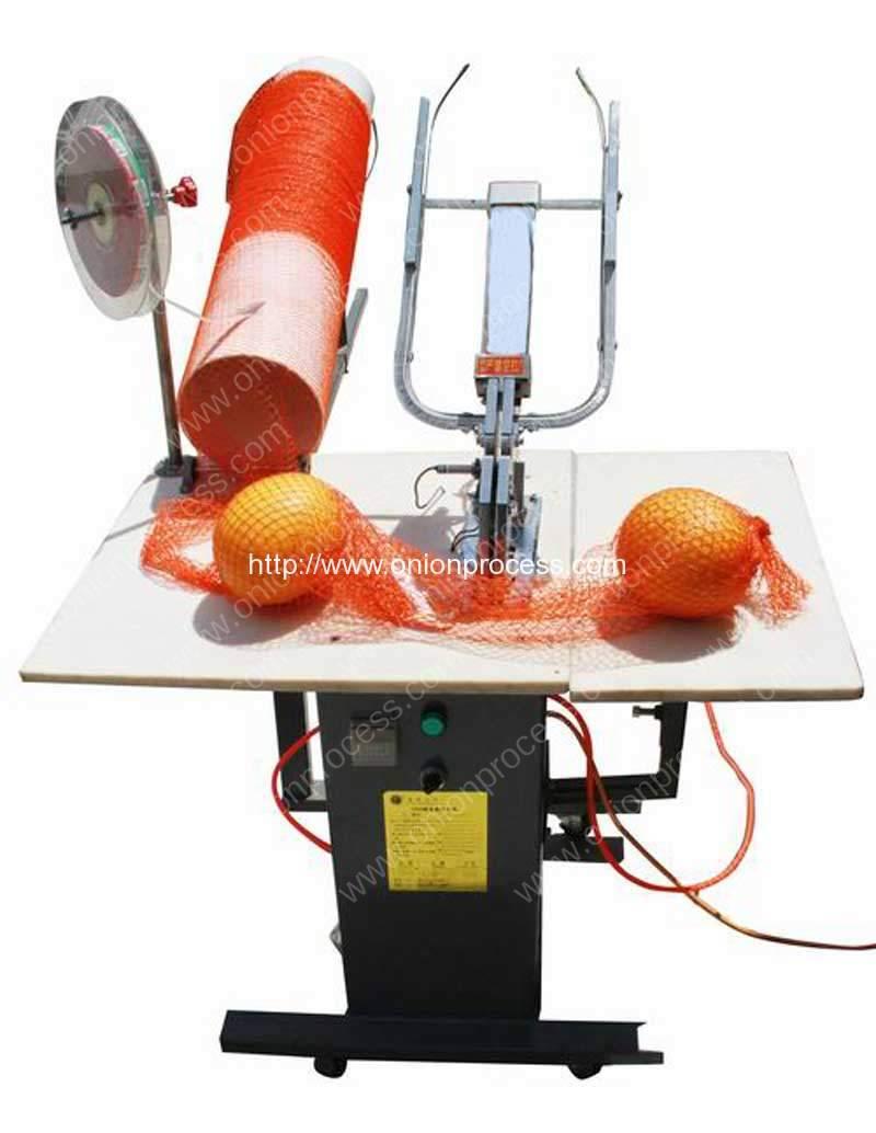 Semi-Automatic Pneumatic Onion Mesh Bag Clipping Machine