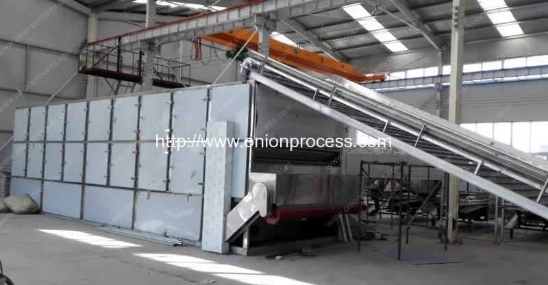 Horno de secado de cebolla de múltiples capas automático completo