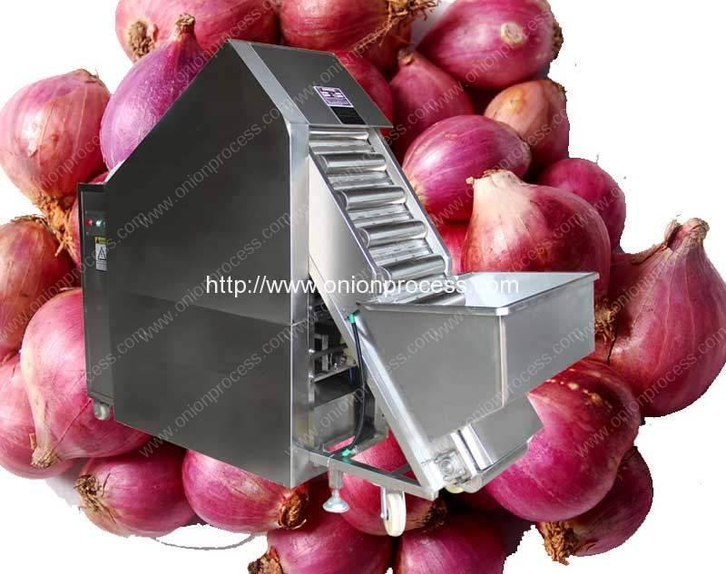Máquina peladora automática de cebolla de tamaño pequeño