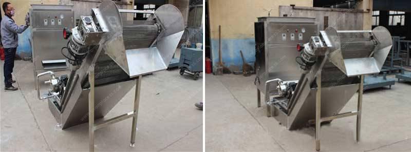Stainless-Steel-Onion-Peeling-Machine-with-Elevator-for-Pakistan-Customer