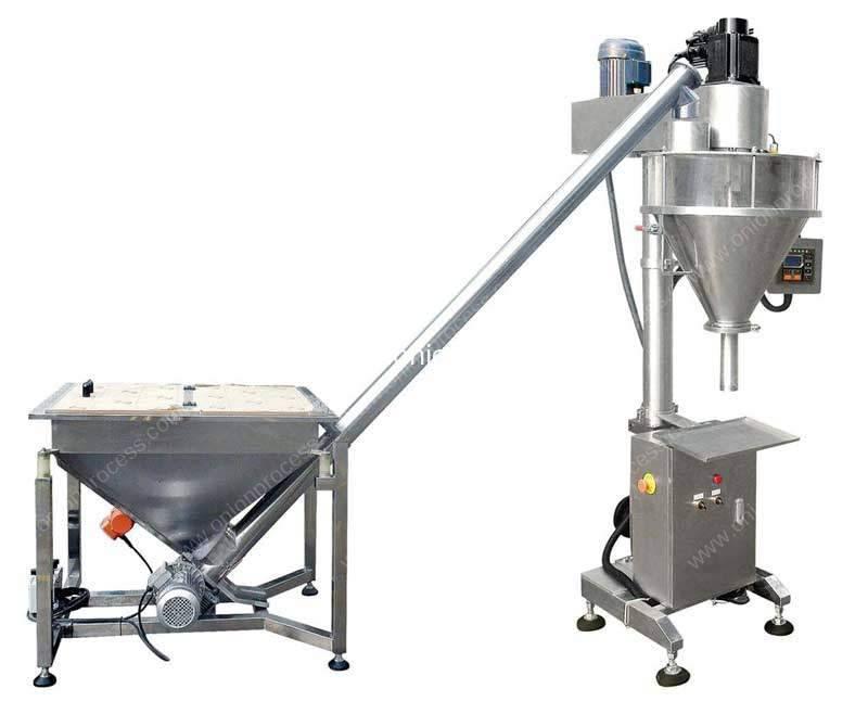Auger-Filler-Type-Onion-Powder-Filling-Machine-with-Big-Powder-Hopper