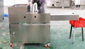 High Quality Onion Ring Plate Cutting Machine with Conveyor